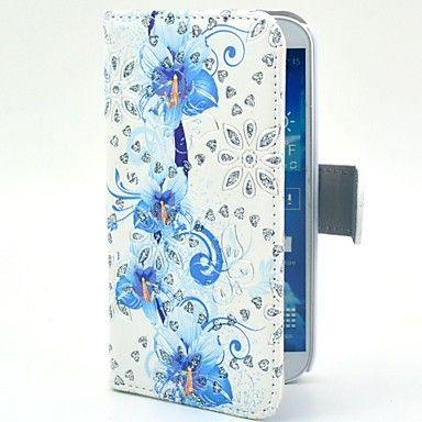 Mooi Orchideebloemen patroon pu Glitter lederen tas met standaard voor Samsung Galaxy S4 I9500 – EUR € 6.92