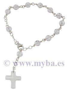 C mo hacer rosarios con plata de ley cristal swarovski y - Como limpiar un rosario de plata ...