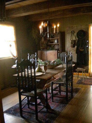 .: Dining Room, Cozy Primitives, Primitive Colonial Rooms, Primitives Colonial, Colonial Primitives 1, Colonial Primitive Style, Kitchen, Early, Colonial Living Primitives