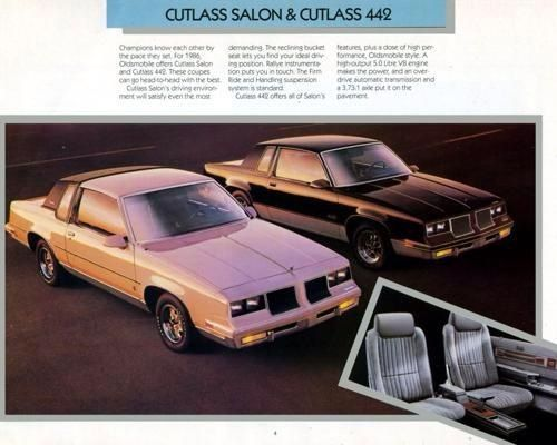 39 85 oldsmobile cutlass salon 442 brochure oldsmobile for 85 cutlass salon