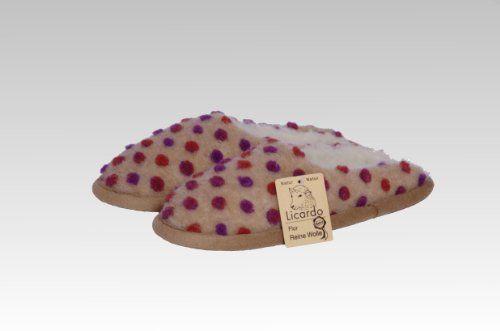 Comfortpantoffel Wolle Noppen, 100 % Schurwolle i.F., Farbe Beige - http://on-line-kaufen.de/kc-wollwaren/comfortpantoffel-wolle-noppen-100-schurwolle-i-f