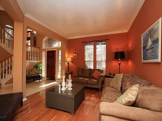 Warm warm colors and living rooms on pinterest Different paint colors for living room
