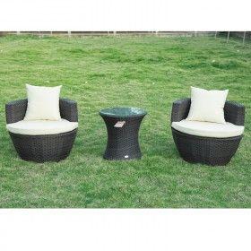 Precioso conjunto de mueble mimbre ratan de jardin y for Amazon muebles terraza