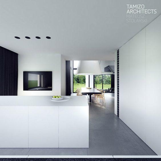 Wandworth kitchen design with island looking out into the garden - preisliste nobilia küchen
