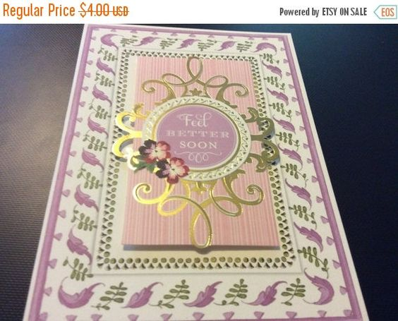 Summer Sale Gorgeous 3D Feel Better Soon Banner Greeting by EMTWTT