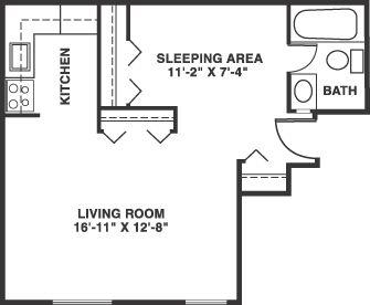 Floor plans for studio apartments design basic 8 on home for Studio apartment floor plan ideas