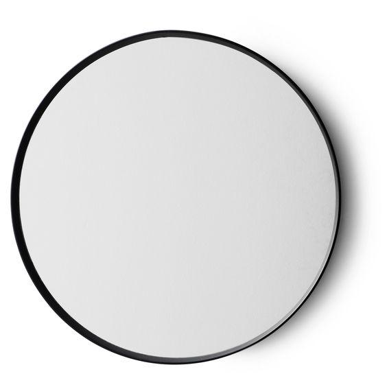 Norm spegel, svart i gruppen Inredningsdetaljer / Hemmets bra att ha / Speglar hos RUM21.se (131808)