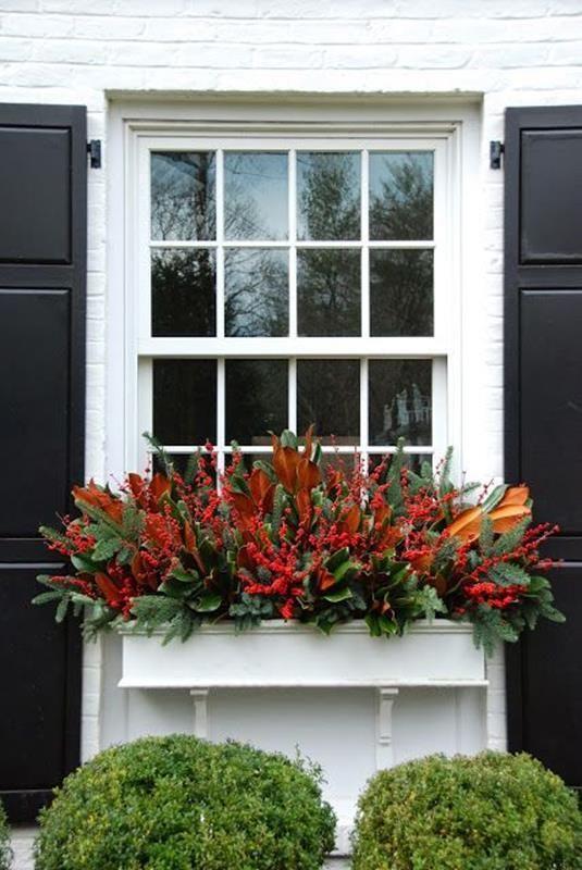 30 Gorgeous Christmas Decorating Idea Window Box Window Box