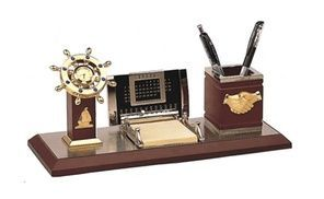 Groupon - Nautical Desk Organizer With Calendar And Ships Wheel Clock WASCBG0210. Groupon deal price: $65.04     :