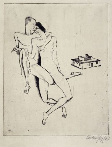 """Farkas Molnár, Georg and El Muche and the """"Haus Am Horn"""", 1923 Bauhaus Archive / Museum of Design, Berlin"""