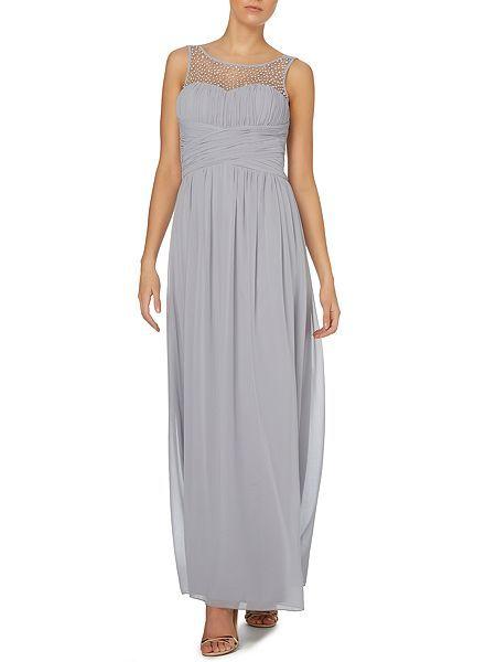 Beaded top maxi dress