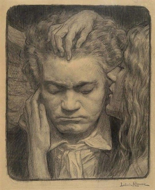 Beethoven Listening To A Muse By Ludovic Alleaume In 2019