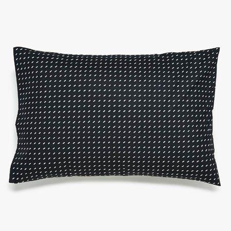 Black + White Contrast Stitch Pillowcases   Modern Bedding   Unison