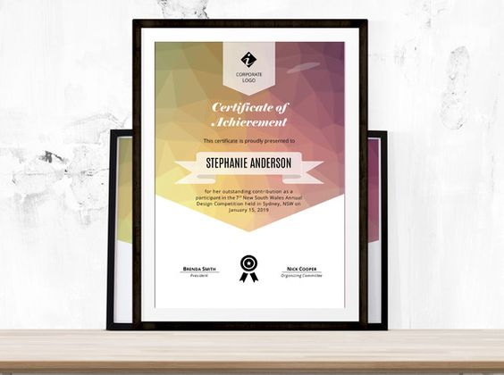 Polygon corporate certificate docx @creativework247 Stationery - creative certificate designs