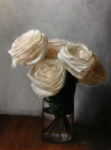 """""""Roses"""" - Original Fine Art for Sale - © Jonathan Aller  Really restful painting- timeless"""