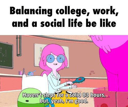 College Work Life Balance How To Fund Your Education Without Sacrificing Your Education Funny Memes Fangirl Fun Facts