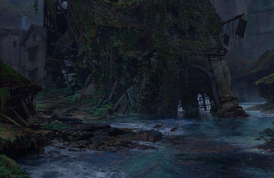 Uncharted 4 Sunken, Aaron Limonick on ArtStation at https://www.artstation.com/artwork/uncharted-4-sunken