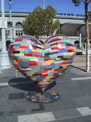 San Francisco Heart street sculpture