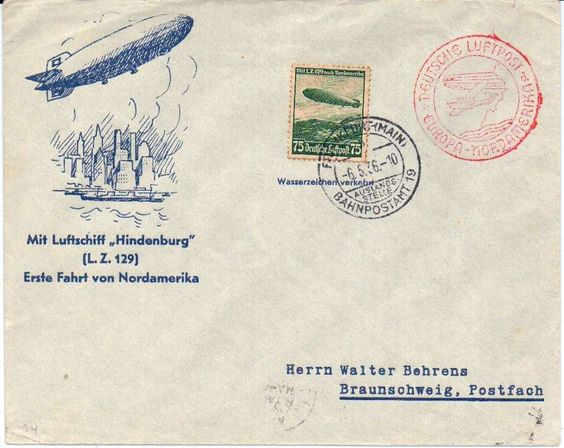German Empire Zeppelin Brief vom 6.5.36 Nordamerikafahrt  Lot condition   Dealer PPH Asbit  Auction Starting Price: 25.00EUR