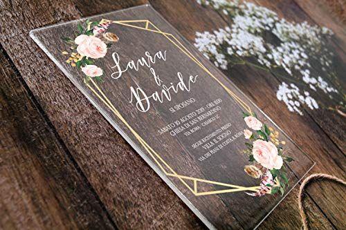Partecipazioni Matrimonio Anni 70.Partecipazioni Matrimonio Personalizzate Inviti Nozze Plexiglass