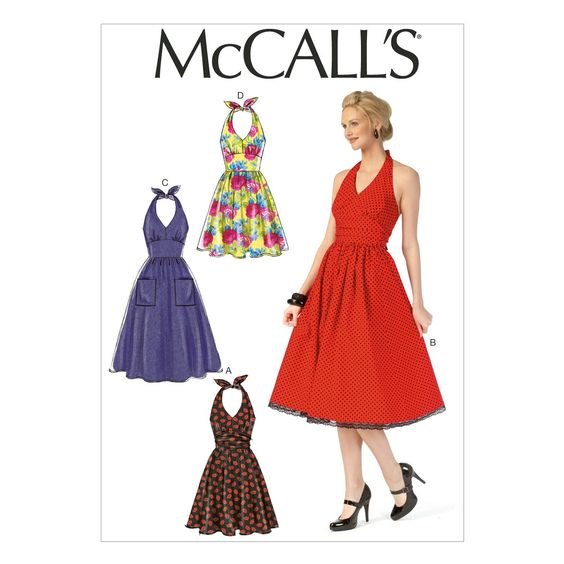 M7157 Robe - Jeune femme (Taille: 6-8-10-12-14) - Robes - Femmes - McCall's - PATRONS