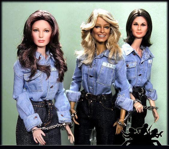 Charlie's Angels - OOAK Noel Cruz Custom dolls Shot 2 w/out background by FarrahF, via Flickr