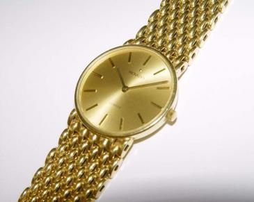 mens solid 14kt yellow gold movado wristwatch 14k mesh