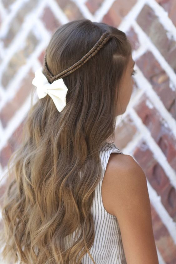 Infinity Braid Tieback -- unique and pretty for long hair