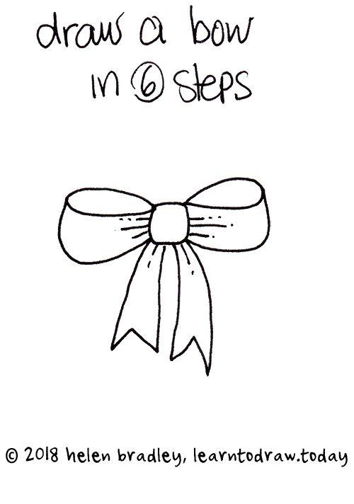 Cute Bow Drawing