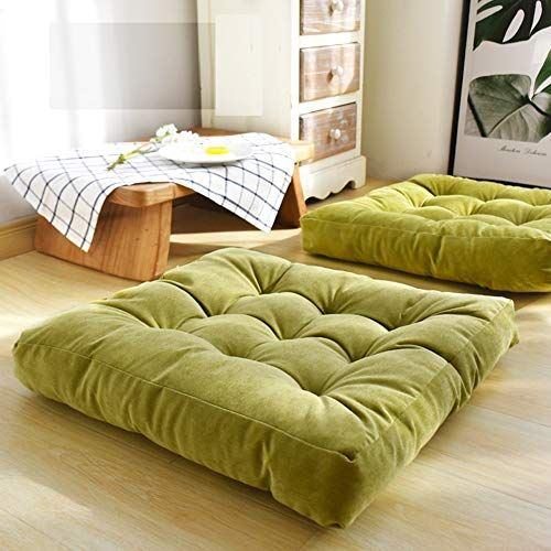 Higogogo Solid Square Seat Cushion Tufted Thicken Pillow Seat Soft Corduroy Chair Pad Tatami Floor Cushion For Yoga Yogamozart In 2020 Square Floor Pillows Floor Cushions Floor Seating Living Room