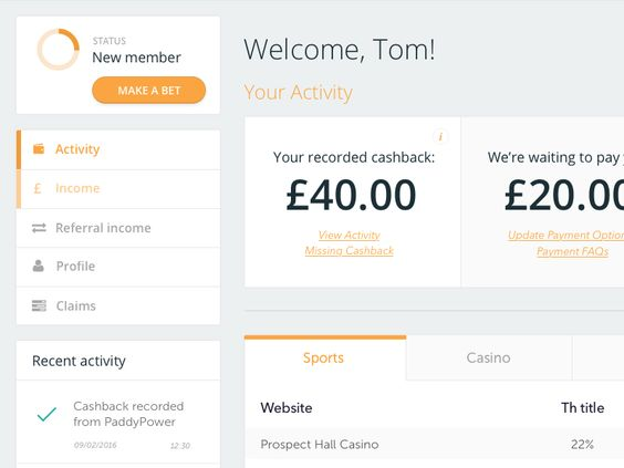 Cashback Dashboard