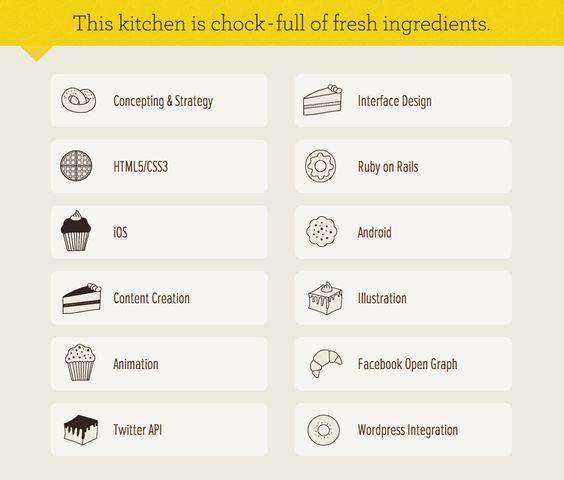 Skills List from Oven Bits u203a PatternTap UI Web design - skills list