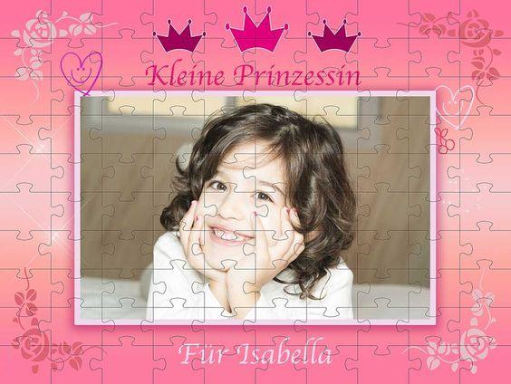 Fotopuzzle für kleine Prinzessinnen
