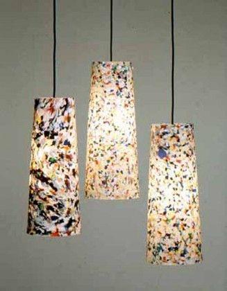 Lamparas recicladas luminaires pinterest - Lamparas originales recicladas ...