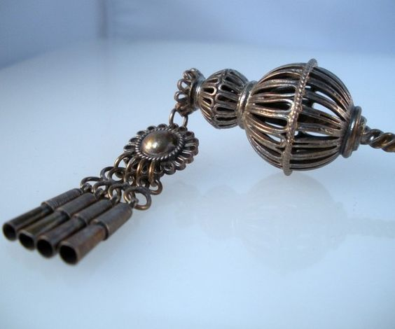 Vintage Sterling Silver Hair Stick