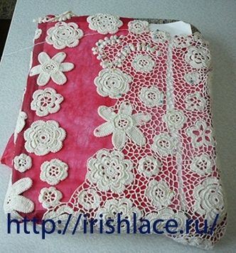 How to assemble Irish crochet lace