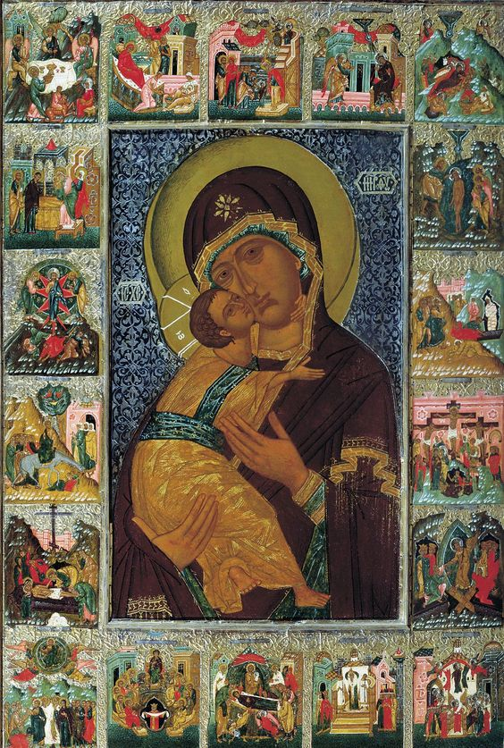 Mother of God of Vladimir late 16th century