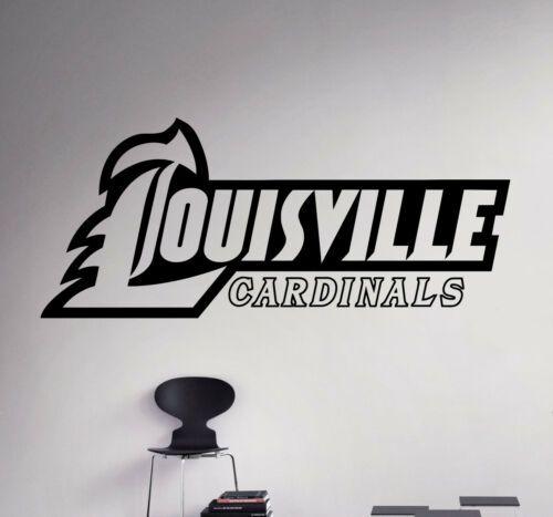 Louisville Cardinals College Football Logo Wall Decal Ncaa Vinyl Sticker 19nc Decals Stickers Vinyl Art E In 2020 Logo Wall Vinyl Sticker College Football Logos