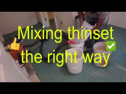 How To Mix Thinset Mortar The Proper Way Youtube With Images Home Repair Mortar Tile Installation