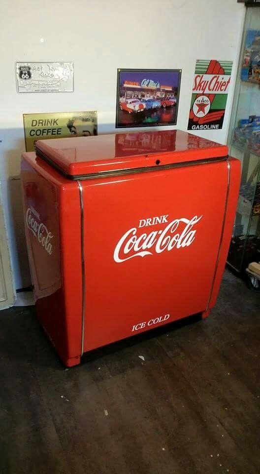 meuble frigo coca