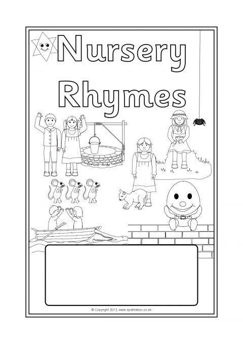 Nursery Rhymes Editable Topic Book Covers Sb451 Sparklebox Rhyming Books Rhymes Nursery Rhymes