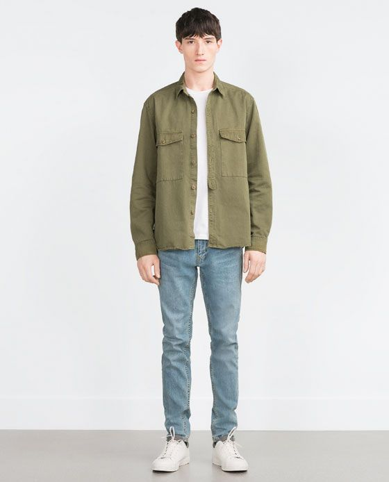 Image 1 of COMBAT SHIRT from Zara