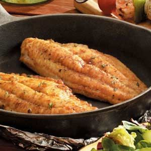 Skillet-Grilled Catfish recipe (I made this on the stove AND on the grill and it was really good)