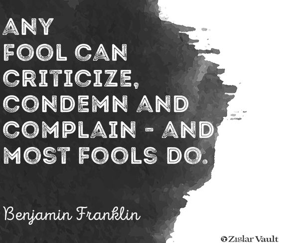 Ziglar Vault: Benjamin Franklin. Keep your eye on the goal and proactively go there.