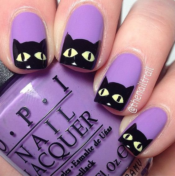 Cute cats, Cat nails and Nail art ideas on Pinterest