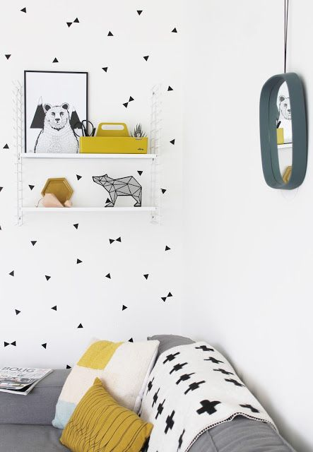 Via Miss Jettle | Scandinavian Home | Cross | Triangles | White