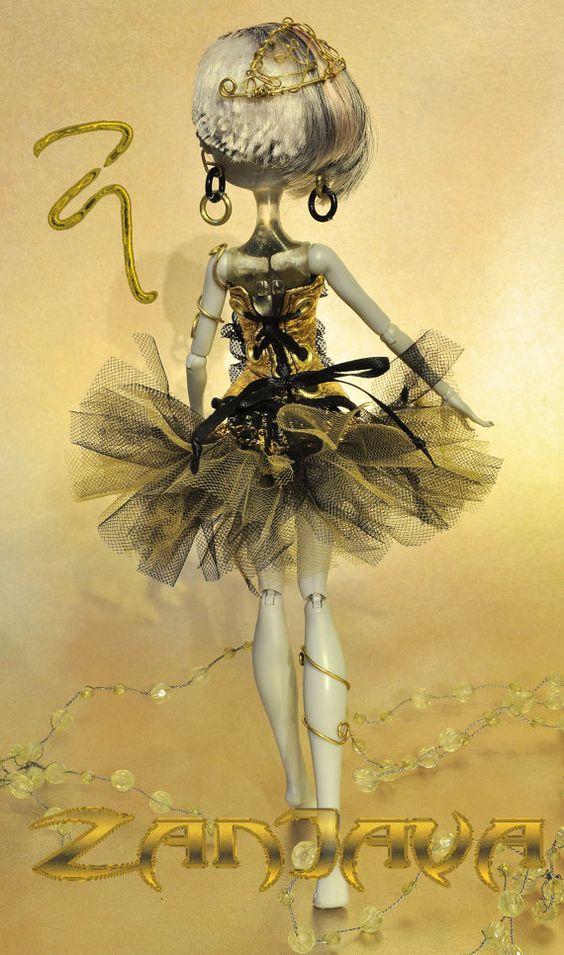 ZanJava tutu & corset fashion for Monster High by ZanJava on Etsy