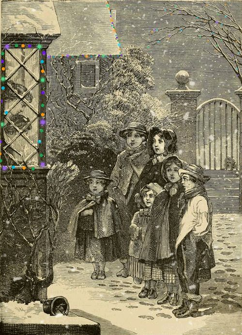 Deja que nieve!  Original de El almanaque de Nueva York  para 1876