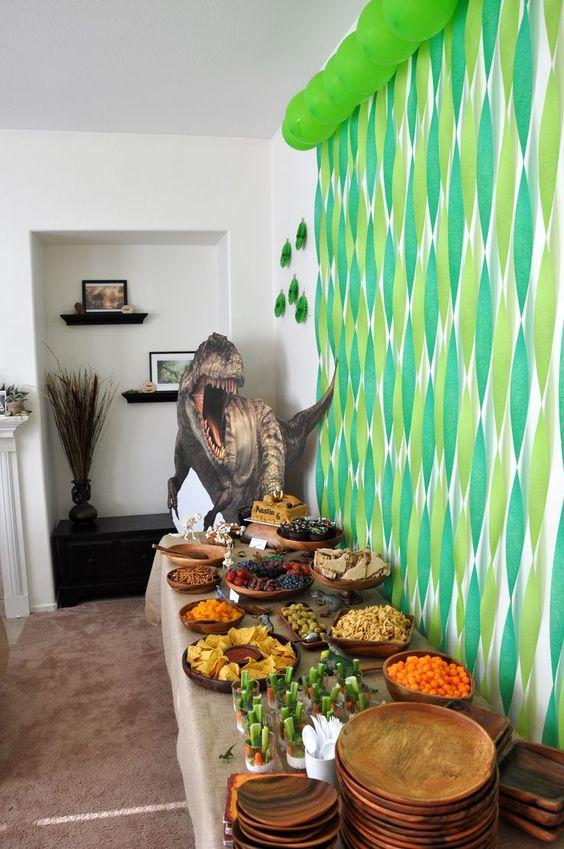 Dinosaur+Themed+Food+Signs   Austin's dinosaur party decorations / food table. Dinosaur party food