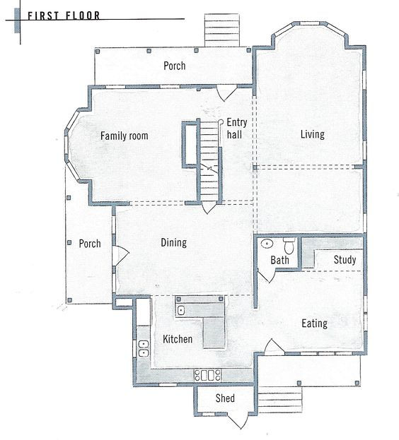 Folk Victorian Farmhouse Floor Plans And Victorian